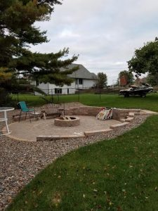 Paver Patio with Fire Pit