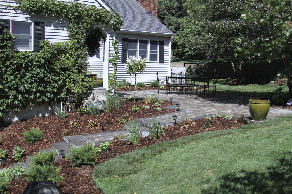 Image of completed landscaping