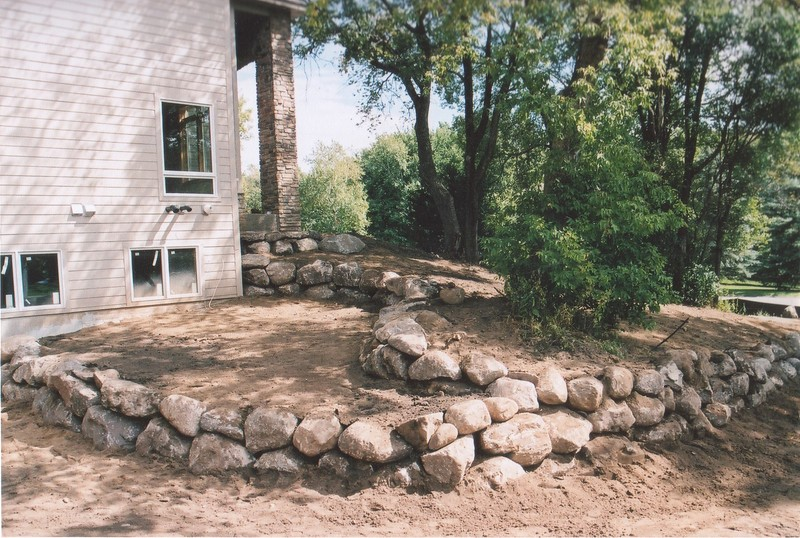 Boulder Wall Installation Contractor near St. Paul, MN